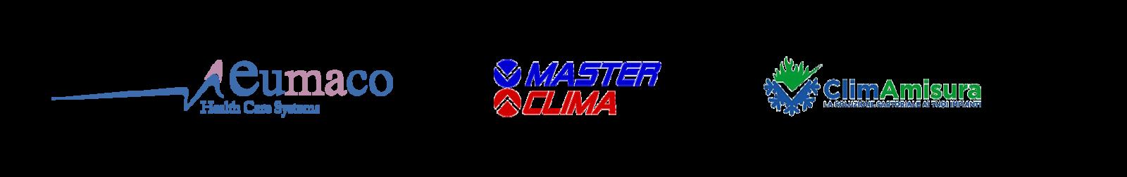 Loghi degli utilizzatori di Mastergest: MasterClima, Climamisura, Eumaco