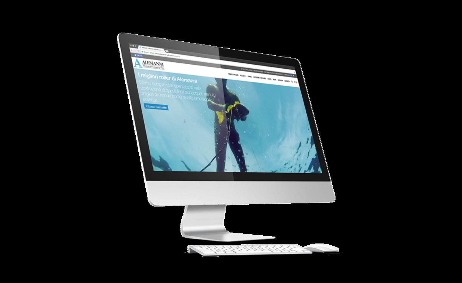 Screenshot dell'home page del sito Alemanni