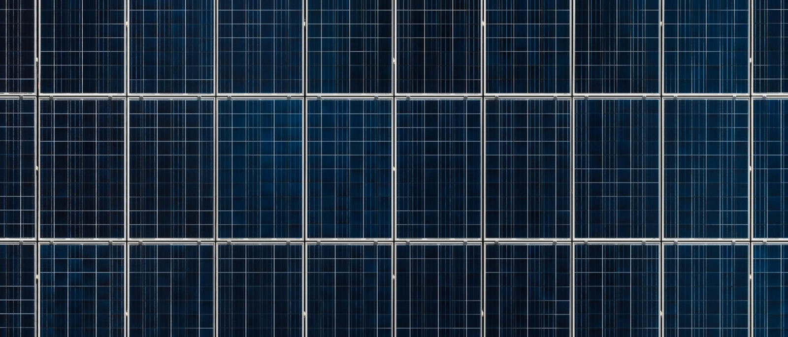 Solar panels seen from above